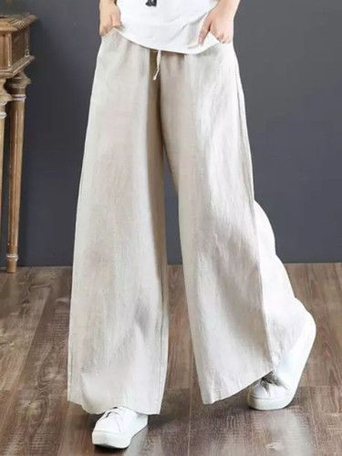 Wide Leg Pants High Waist Solid Flare Pants Casual Loose Long Trousers Streetwear