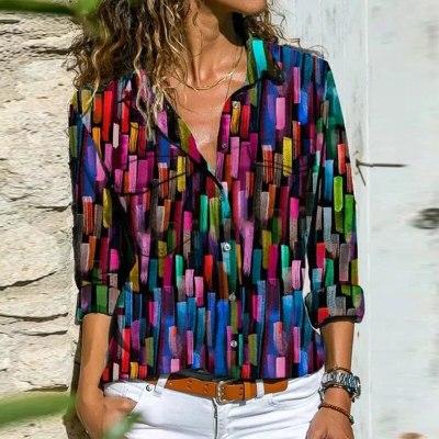 Women Shirt Casual Loose Long Sleeve Tops Fall Spring