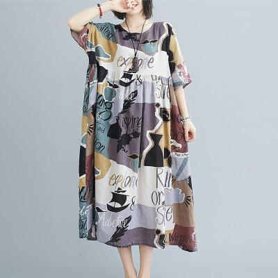 Summer Beach Long Dress Boho Ladies Dresses for Cotton Casual Dress