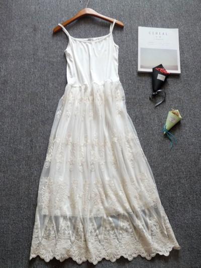 Women's V-neck elegant lace dress