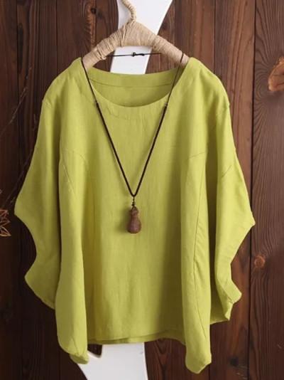 Womens Shirts Plus Size Summer Blouse