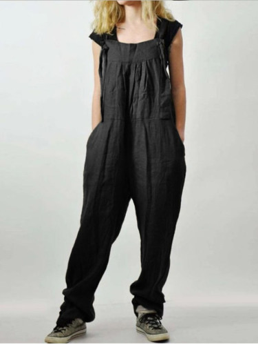 Women's Dungarees Jumpsuits Fashion Summer Overalls Casual Wide Leg Playsuits