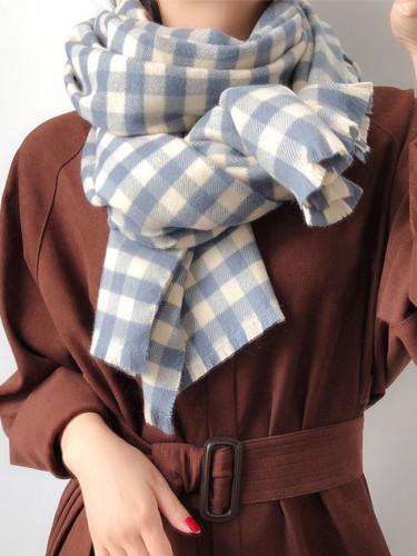 New scarf Imitation cashmere scarf women's double face warm shawl
