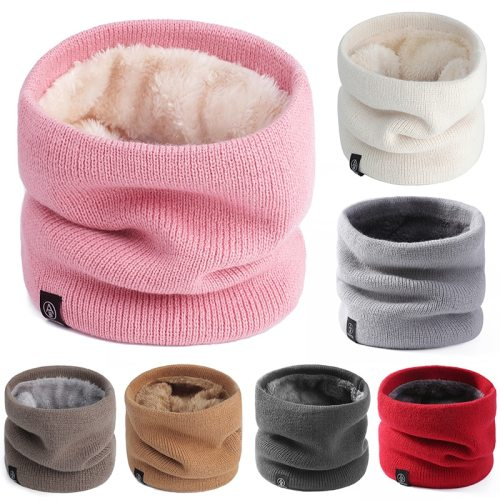 Winter cotton snood ring skullies scarf woman scarf knit slouchy black