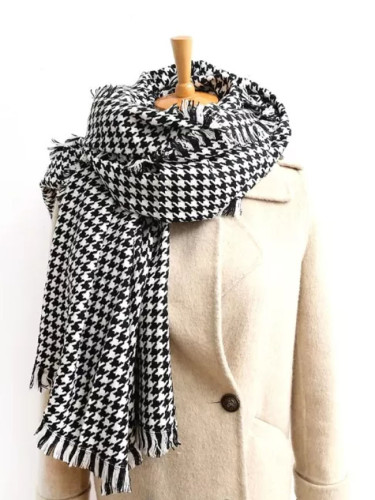 Plaid Winter Scarves Cashmere Holiday gifts