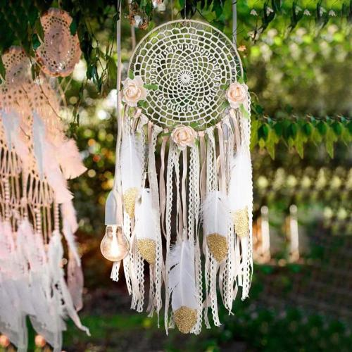 Nordic White Dream Catcher Room Decoration Nursery Decor Wedding Decoration Valentines Day Gift Wall Hanging Decor