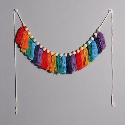 2021 Tassel Garland Colorful Home Decoration Accessories Party Backdrop Christmas Boho Home Decor Wall Hangings Gift