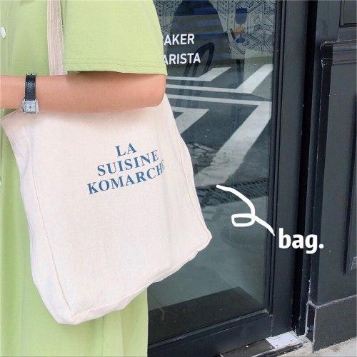 Women Canvas Shoulder Bag Letters Printing Ladies Casual Handbag Totes Eco Reusable Cotton Linen Shopping Travel Beach Bag
