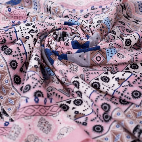 Boho Women Winter Neck Wrap Long Warm Scarf Ethnic Print Triangle Tassel Shawl