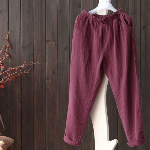 Cotton And Linen Pants Summer Loose Casual Pants