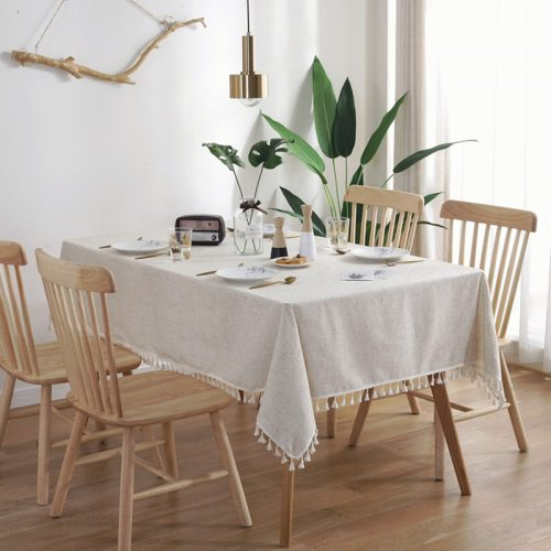 Home Decorative Table Cloth Linen Lace Tablecloth Rectangular Dining Table Cover Table Cloths