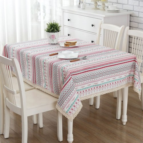 Polka Dot Table Mat Bohemian Style Cotton and Linen Tablecloth Coffee Table Decoration