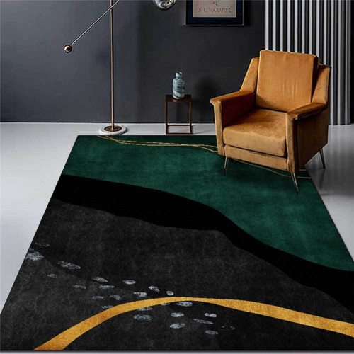 Modern Abstract Line Pattern Carpet Printed Soft Carpets For Living Room Anti-slip Rug Floor Mat Home Decor Tapis