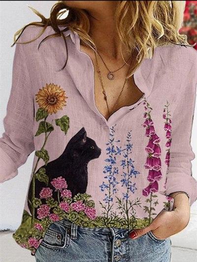 Aprmhisy New Fashion Women Blouse Shirt Long Sleeve Turn-down Collar Casual Office Shirts Blusas Feminina