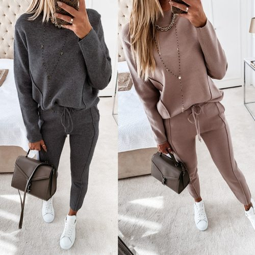 Two piece set women tracksuit jogging casual sweatsuits sets sportswear women 2021 fashion ensemble femme conjunto dos piezas