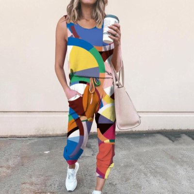 Tie-Dye Deep V Neck Sleeveless Crop Top And Leggings 2 Pieces Set Sexy Tight Club Party Lady Fashion Tracksuits