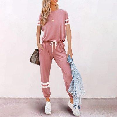 Muyogrt Solid Color 2 Piece Set Women Tracksuit Crop Top Outfit Joggers Sweat Suits Women Workout Set 2021 Summer Lounge Wear