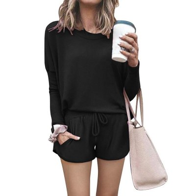 Tie Dye Short Set Print Women Clothing Set Two Piece Long Sleeve Blouses Shorts Ladies Outfit Casual Female Clothing Set