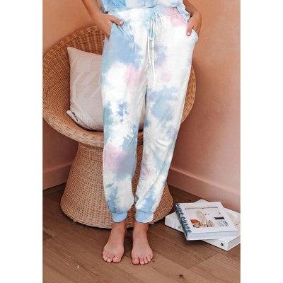 Women Tie Dye Joggers High Waist Long Baggy Pants Sweatpants Loose Street Trousers