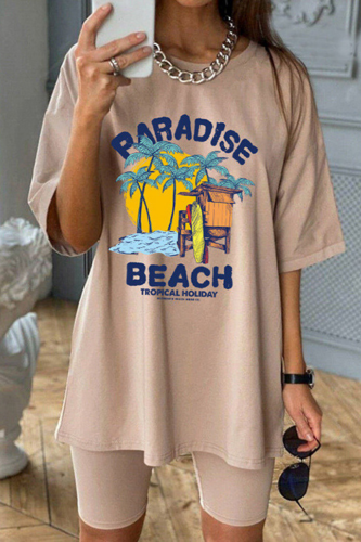 Vintage Casual Streetwear Letter Print Graphic T Shirts Women Oversized Crop Tops Loose Short Sleeve 2021 Summer Fashion Clothes