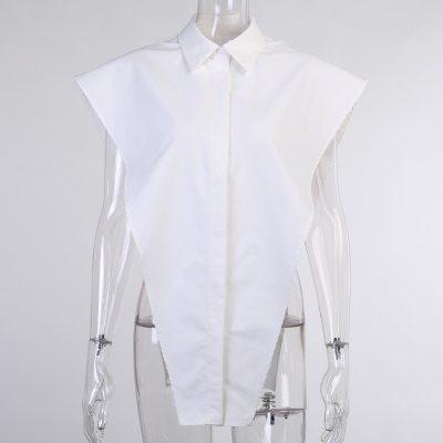 2021 New Sexy Women Blouse Turn Down Collar Sleeveless Women Blouses Tops For Women Elegant Shirt Tops For Women Clothes