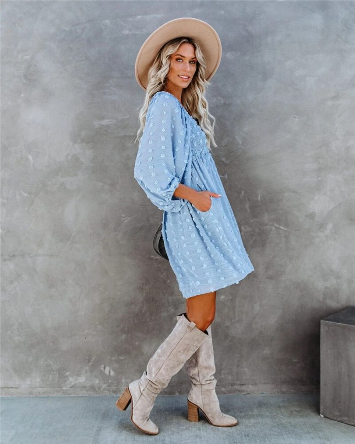 Women Full Sleeve Print Solid Dresses Mini Casual Women's Girl Summer O-neck Sexy Dresses Casual Dress