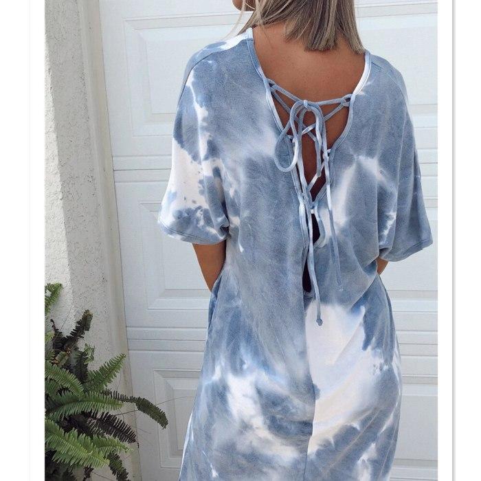 2021 Summer Fashion Women's V-Neck Sexy Slim-Fit New Style  Bandage Dress Street Trendsetters
