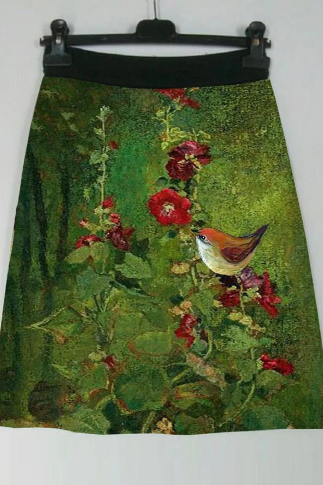 Women'S Positioning Print Skirt