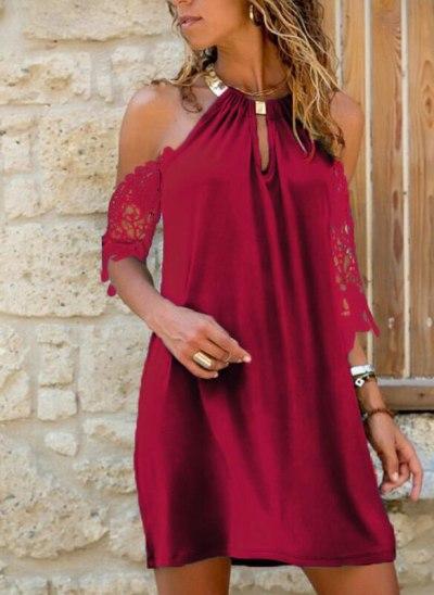 Women Halter Lace Dress Lady Black Dress Femme Mini Dress Backless Streetwear Clothes
