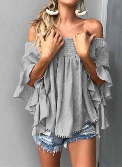 Fashion Women Summer T-Shirts for Streetwear Short Flare Sleeve Casual Loose Pullovers Top For Lady