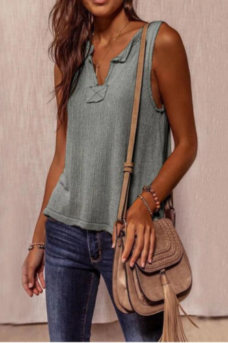 Vintage Sleevelss t Shirt Women Tops Solid V Neck Loose Tank Top Summer Tees Fashion Streetwear Ladies Top Beach Casual Vest