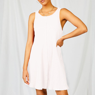 2021 Summer Solid Color Sexy Halter Camisole Dress Women'S Clothing