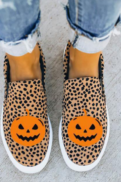 Women Flats Shoes Woman Plus Size Canvas Fabric Flat Casual Loafers Halloween Shoe Chaussures Femme Zapatos Mujer Sapato D2193