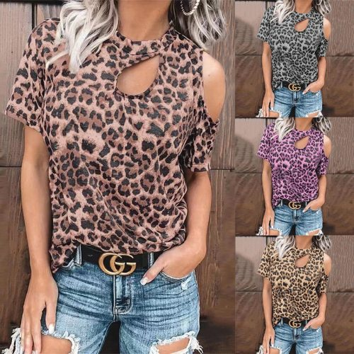 Loose T-shirts Women Jumpers short Sleeve Tops Woman Pullovers female streetwear O-neck printed hollow out sexy Tee shirt C0583
