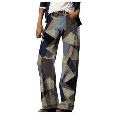 Casual Denim Wide Leg Pants Color Prints Jeans Women Trouser Loose Straight Tube Long Cozy Vintage джинсы Plus Size Wholesale A