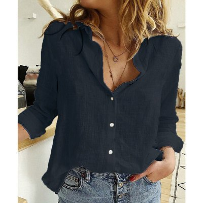 Women Turn Down Collar Blouse Shirt Elegant Polka Dot Star Print Female Tops Shirts Blusas 5XL