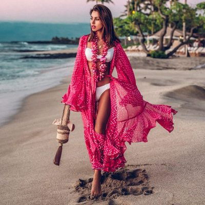Bikini Cover Up Lace Hollow Crochet Swimsuit Beach Dress Women 2020 Summer Ladies Cover-Ups Bathing Suit Beach Wear Tunic