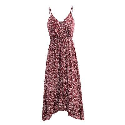 Fashion Split Maxi Long Beach Dress Female Sexy Backless Floral Print Summer Womens Bohemian Boho Casual Dress