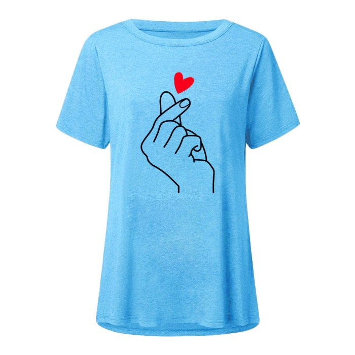 Women White Print T-shirt O-neck Loose Short Sleeve Top Fashion Casual Oversized Tees Summer Woman Clothing