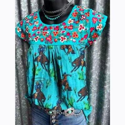 2021 Vintage Women T Shirts O Neck Printed Kawaii Oversized Casual T-Shirt Summer Aesthetic Ladies Short Sleeve Tops Blusa