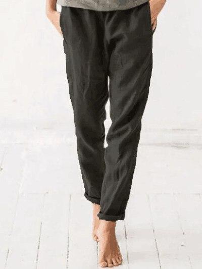 Newest Cotton Linen Pants Women Elegant Trousers Lady Formal Pants Plus Size S-5xl Famous Brand Design Cotton Trousers Popular
