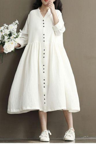 Pleated Cotton Linen Bat-wing Sleeve Maternity Dresses Big Hem Loose Clothes for Pregnant Women Stylish Pregnancy Long Dresses