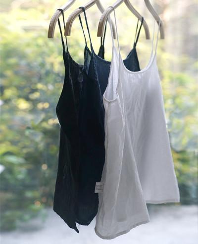 Base Sling Small Vest Cotton And Linen Women'S Cotton White Literary Loose Large Size Short Vest Camis
