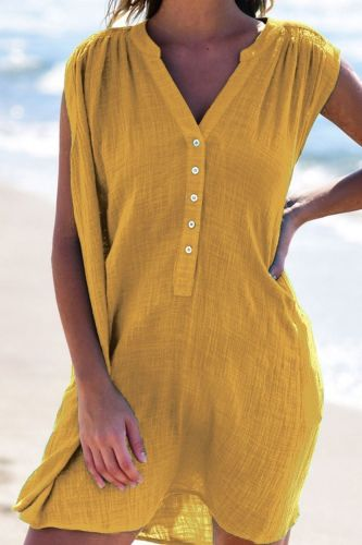 Summer Women'S Dress 2021 New Hot-Selling Slim V-Neck Sleeveless Dress
