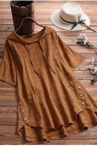 Top 2021 New Style Cotton And Linen Plus Size Women'S Loose Fat Mm Short-Sleeved T-Shirt Women