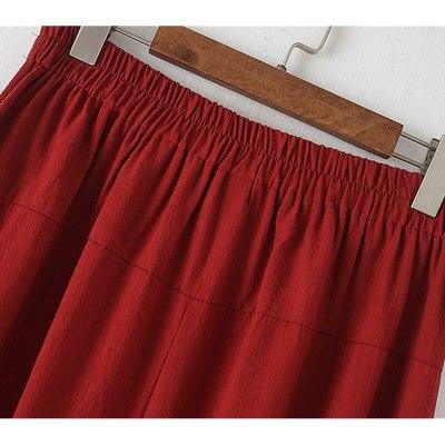 Plus size Womens clothing Trousers Women Pants Wide Leg Pants Loose Elastic Waist Cotton linen Casual Summer Pants 139