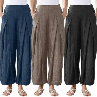 2021 Newest Women Cotton Linen Pants Plus Size 5XL Oversize High Quality Lady Pants Good Clothes Casual Oversea Original Design