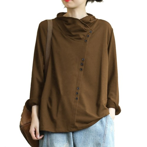 Fashion Cotton Linen Women's Tops and Blouses 2019 New Large Size 5XL Irregular Shirt Women Blouse Shirt Blusa Feminine