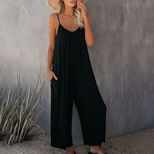 Rompers 2021 Summer Autumn Fashion Women Casual Loose Linen Cotton Jumpsuit Sleeveless Playsuit Trousers Overalls