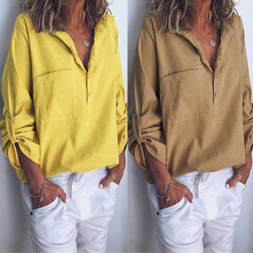 2021 Autumn New Fashion Plus Size Women Clothing Long Sleeve Blouse Casual Tops High Quality Vintage Women'S Shirt